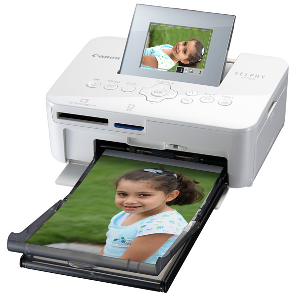 Компактный фотопринтер Canon Selphy CP1000 White цвет термоперенос