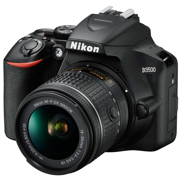 Фотоаппарат зеркальный Nikon D3500 18-55 P VR Kit Black