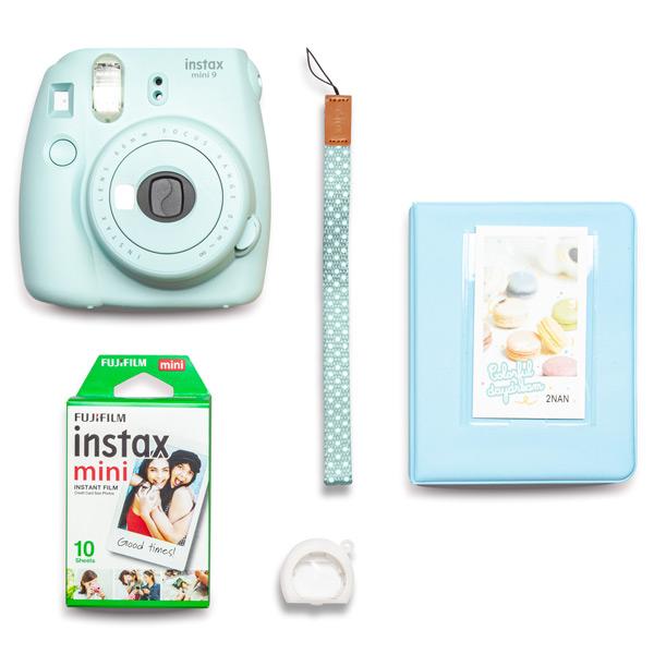 Фотоаппарат моментальной печати Fujifilm INSTAX MINI 9 BLUE (PINK SMILE SET)