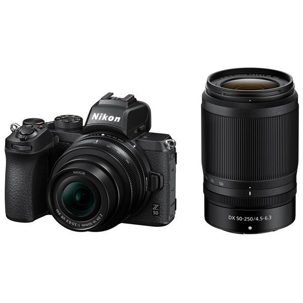 Фотоаппарат системный Nikon Z 50 + NIKKOR Z DX 16-50mm VR + 50-250 VR