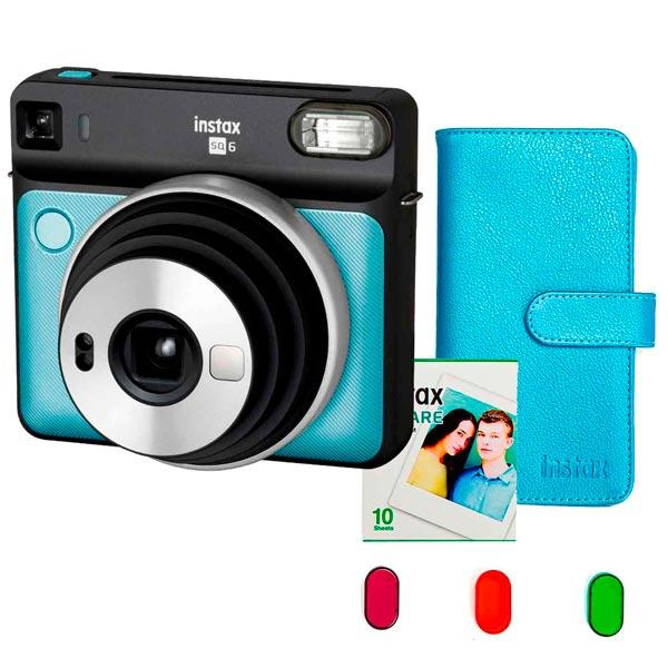 Фотоаппарат моментальной печати Fujifilm INSTAX SQ6 SET AQUA BLUE