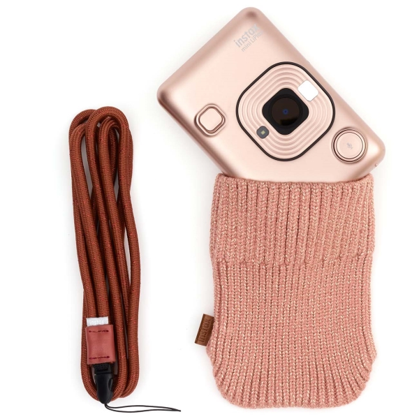 Фотоаппарат моментальной печати Fujifilm Instax Mini Liplay Blush Gold Bundle