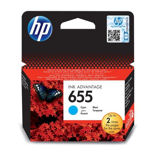 Купить Картридж для струйного принтера HP 655 CZ110AE Cyan в каталоге интернет магазина М.Видео по выгодной цене с доставкой, отзывы, фотографии - Санкт-Петербург