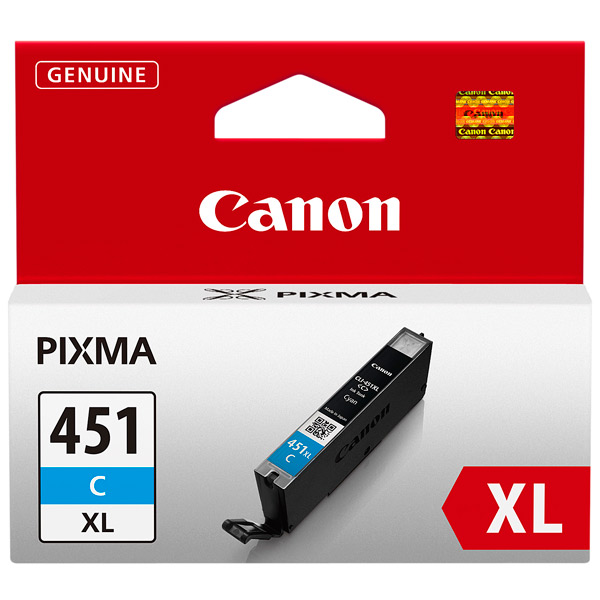 Картридж для струйного принтера Canon CLI-451XL Cyan цвет 11