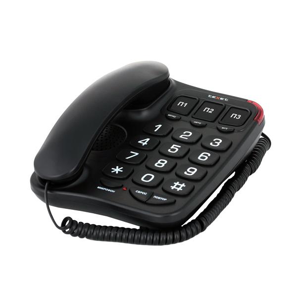 Телефон проводной teXet TX-214 Black