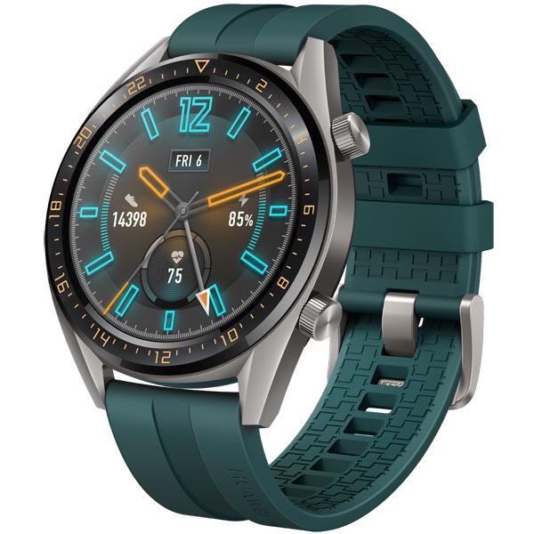 Смарт-часы Huawei Watch GT Active Titanium Grey, рем. Dark Green