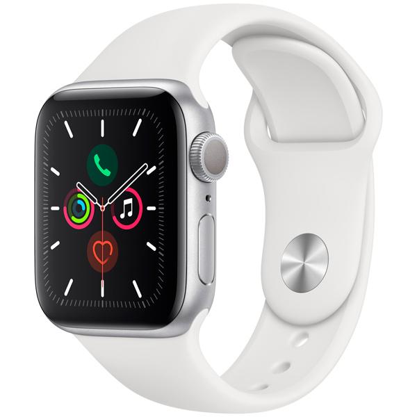 Смарт-часы Apple Watch S5 40mm Silver Sport Band (MWV62RU/A)