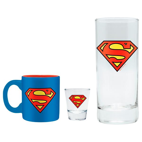 Сувенир ABYstyle Бокал+Рюмка+Кружка DC Comics: Superman фото
