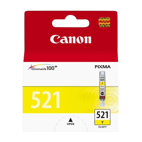 Картридж для струйного принтера Canon CLI-521Y цвет 9