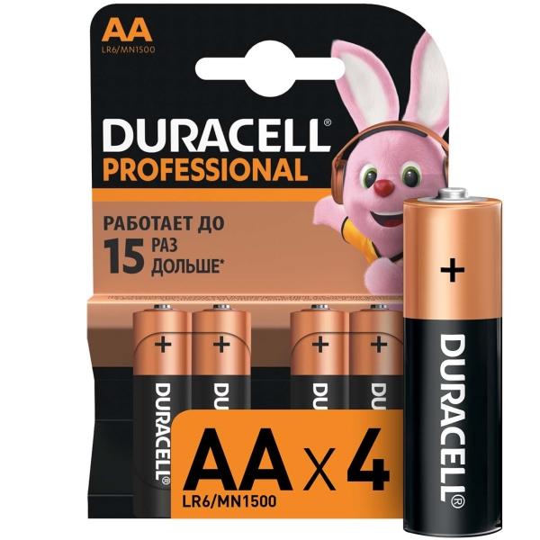Батарея Duracell Professional AA LR6/MN1500 4шт.