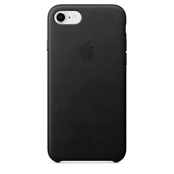 Чехол Apple iPhone 8/7/SE2020 Leather Case Black (MQH92ZM/A) фото