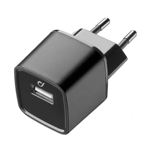 Сетевое зарядное устройство Cellular Line LAACHUSB2AK черного цвета