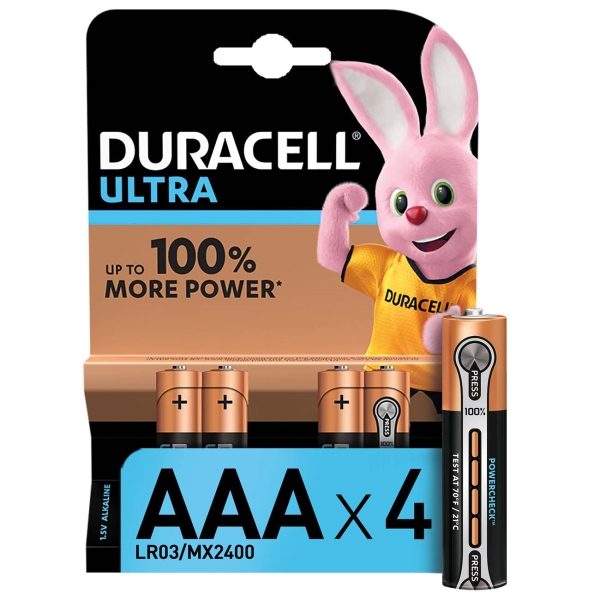 Батарея Duracell Ultra Power AАА LR03 4шт