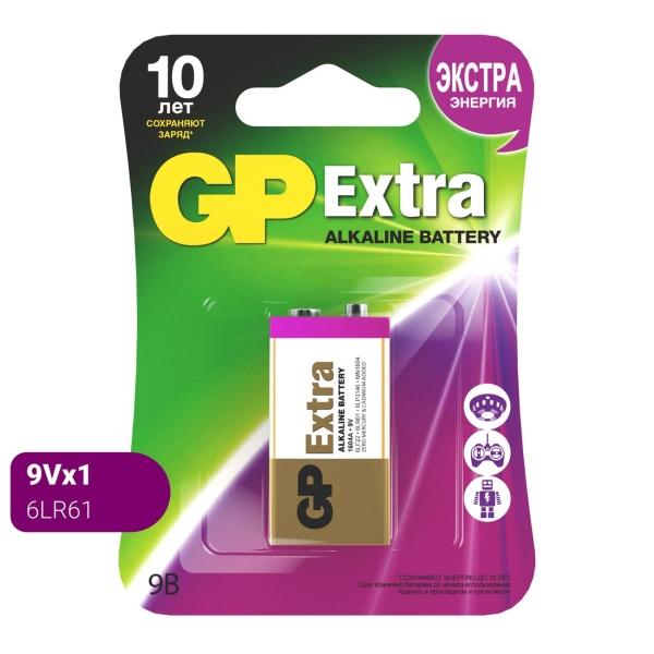 "Батарея GP Extra Alkaline, ""Крона"", 9B, 1 шт (1604AXNEW-5CR1)"