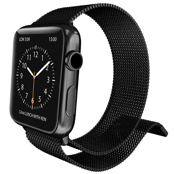 Ремешок X-Doria Mesh Apple Watch 42/ 44mm черный