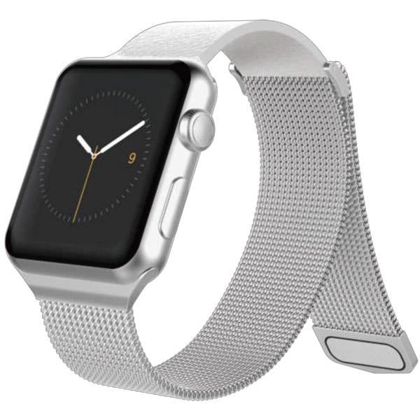 Ремешок X-Doria Mesh Hybrid Apple Watch 38/40mm серебряный
