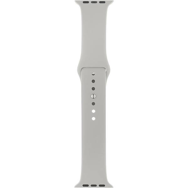 Ремешок InterStep SPORT 42mm&44mm, силикон, св.серый