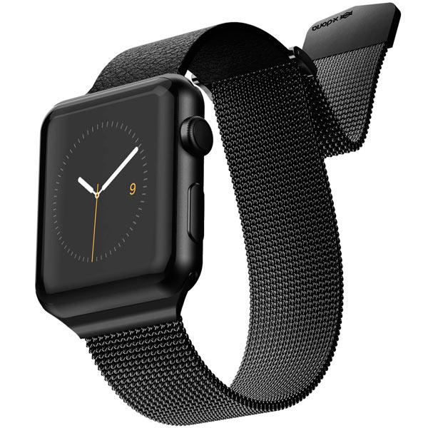 Ремешок X-Doria Mesh Hybrid Band Apple Watch 44/42mm черный