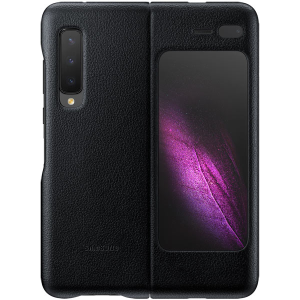 Чехол Samsung Leather Cover Black для Galaxy Fold фото