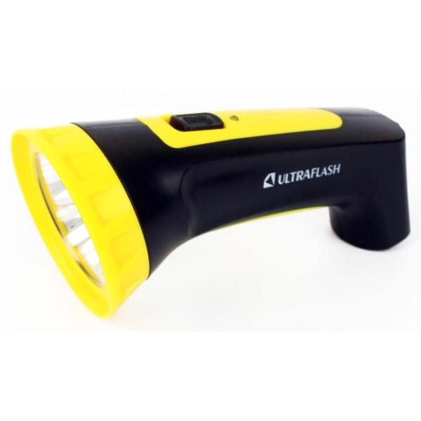 Фонарь бытовой Ultraflash LED3804M черный/желтый