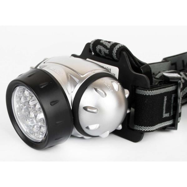 Фонарь бытовой Ultraflash LED5352 налобный металлик