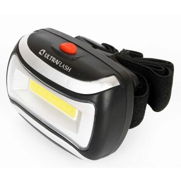 Фонарь бытовой Ultraflash LED5380 налобный черный