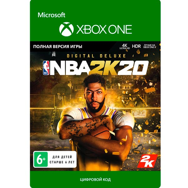 Цифровая версия игры Xbox Take-Two NBA 2K20: Digital Deluxe Take Two Цифровая версия игры Xbox Take-Two NBA 2K20: Digital Deluxe